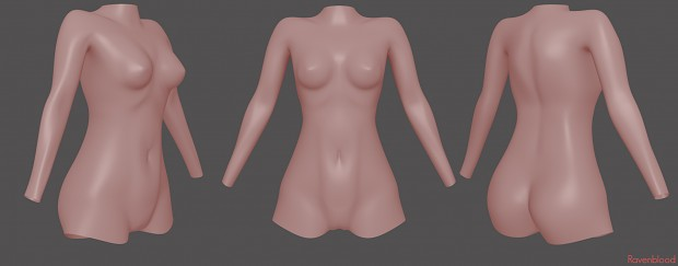 Female Torso Base Mesh