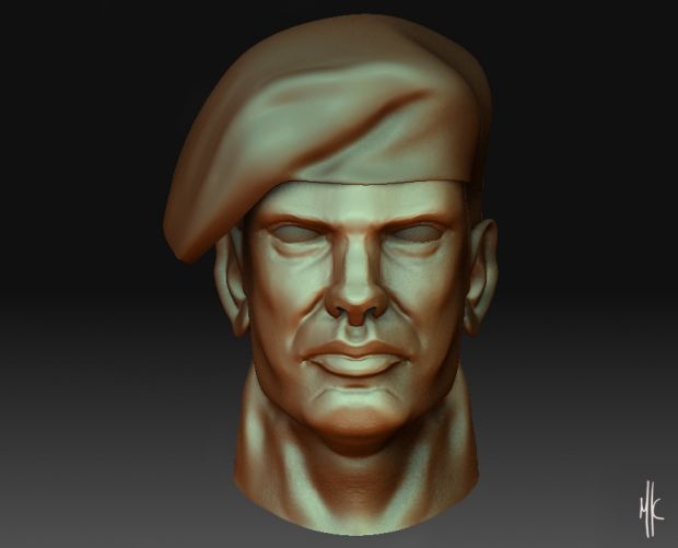 Turkish Maroon beret - Commander Sculpt