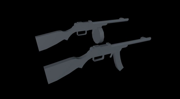 low poly ppsh for company of heroes