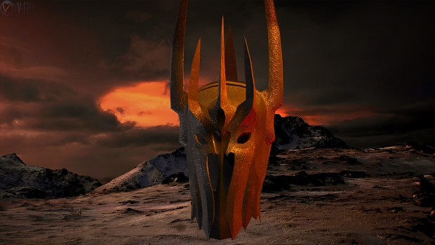 Sauron 3d Helm Render By Senluc