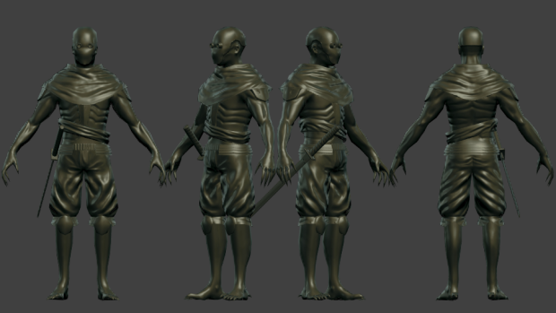 Assassin Ninja (Low Poly) w/Normals