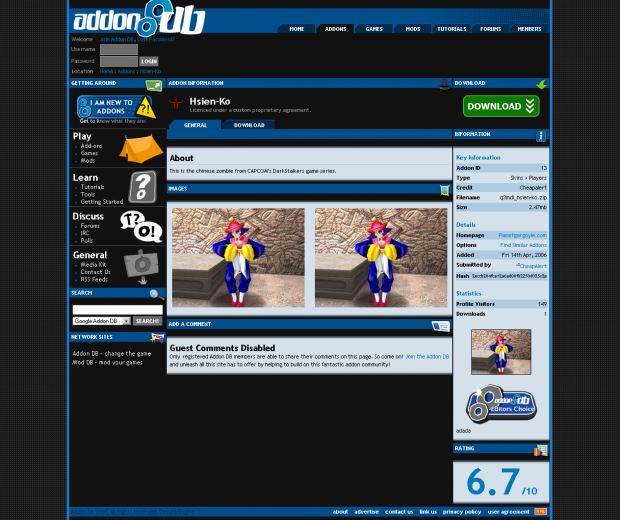 2006 to 2007 - Addon DB