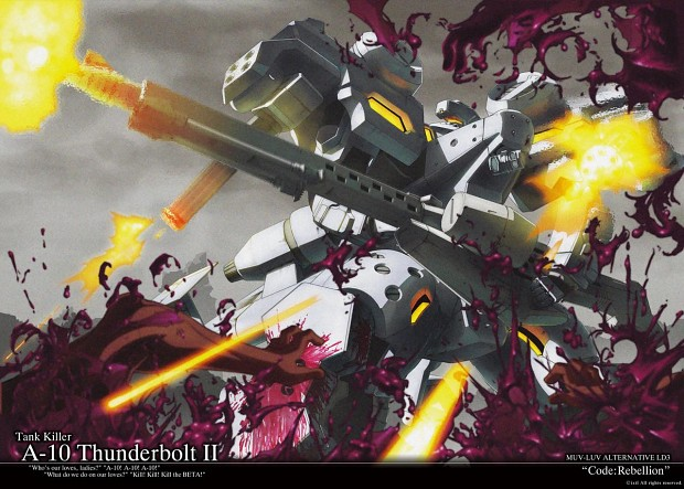 MuvLuv- A-10 Thunderbolt II as a mech