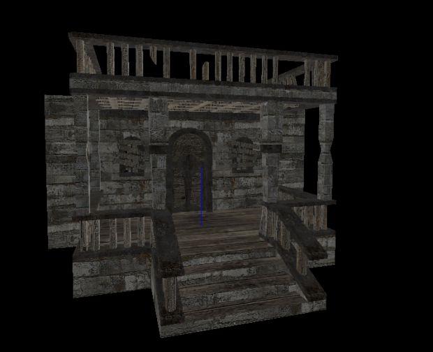 Haunted manor Entrance