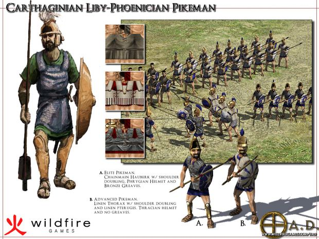 Unit Showcase: Liby-Phoenician Pikemen