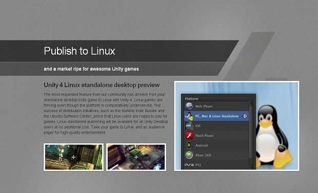 Unity 4 for Linux