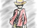 Luffy tablet drawing