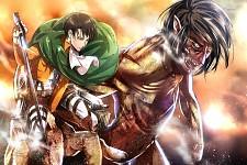 Shingeki no Kyojin -Levi & Titan Eren
