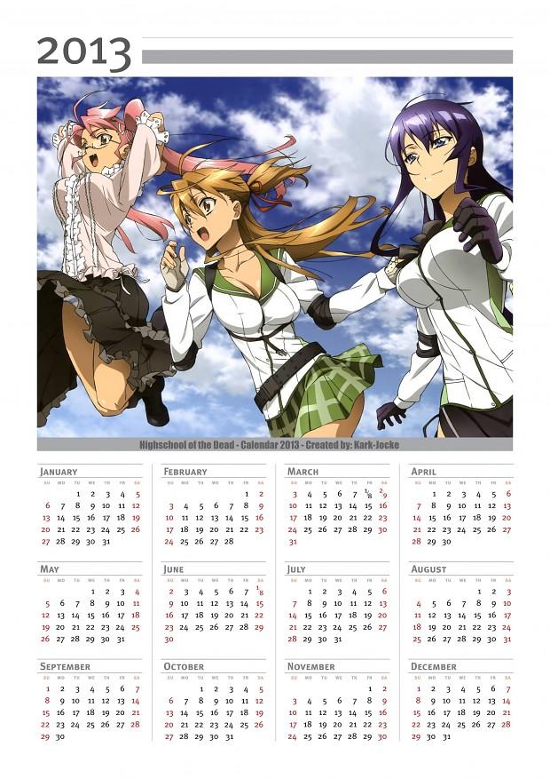 H.O.T.D Calendar 2013