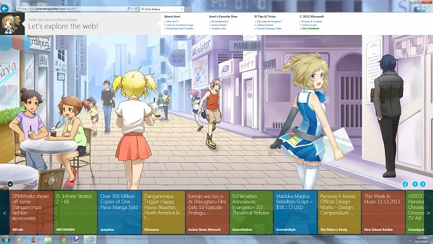 Internet Explorer is now an anime character