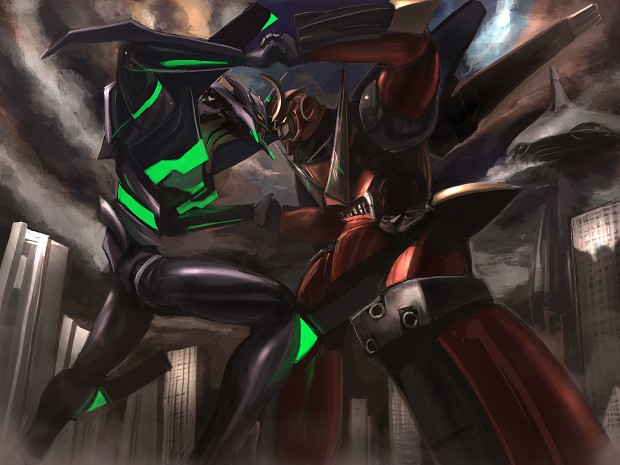 Eva-01 VS Gurren Lagann? :0 Clash of ze Titans xD