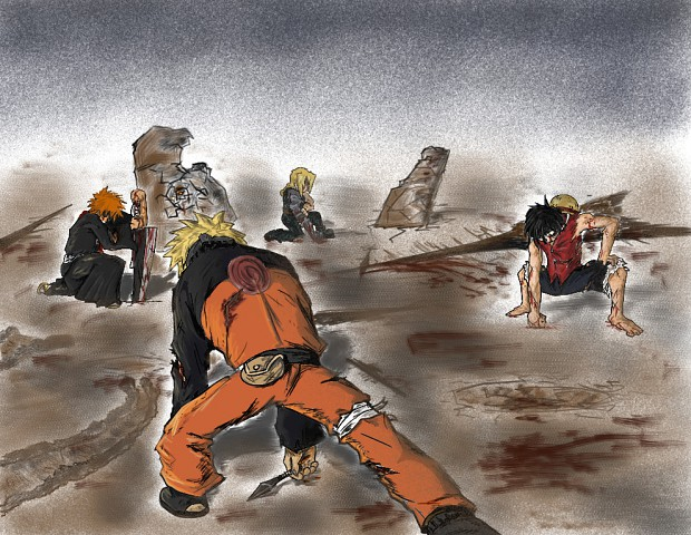 Naruto vs Luffy vs Ed vs Ichigo