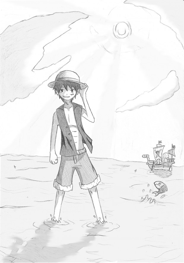 Luffy drawing