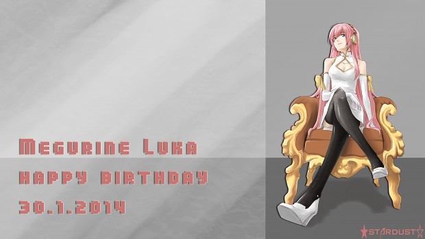 Jan 30th Megurine Luka's birthday