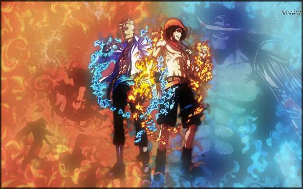 One Piece Whitebeard Marco & Ace