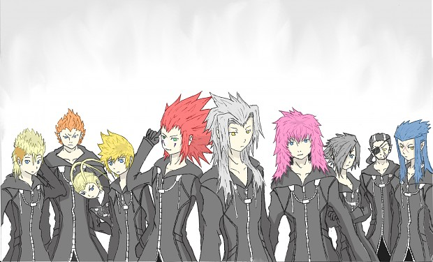 Organisation XIII drawing (coloured)