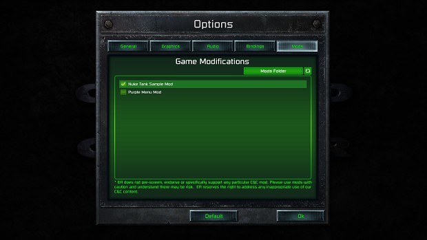 C&C Remastered - Mods Tab