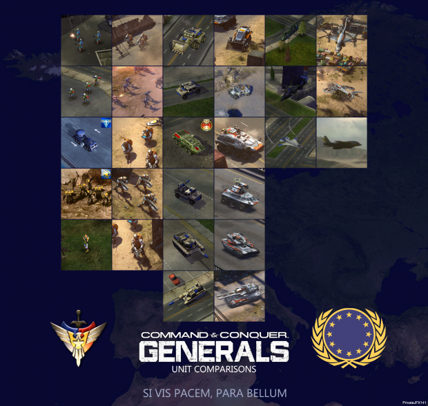 Generals 2 Unit Comparison - EU