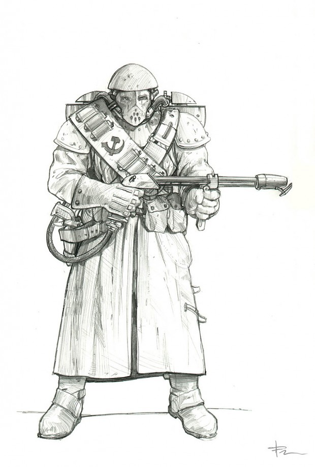 Red Alert 2 soviet flame trooper concept (uncoloured)