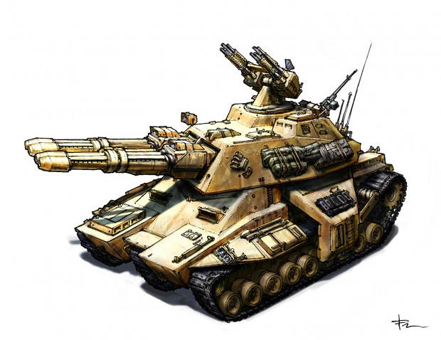 RA2/Generals concept: Mammoth tank with four cannons