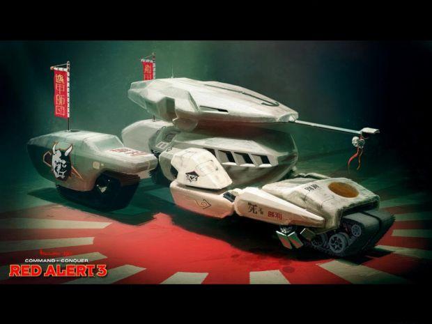 Red Alert 3 Tsunami Tank Artwork image - C&C Paradise - Mod DB Red Alert 3 Tank