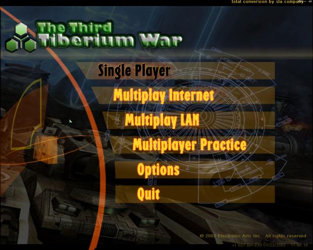 The Third Tiberium War - Menu image - C&C Paradise - Mod DB