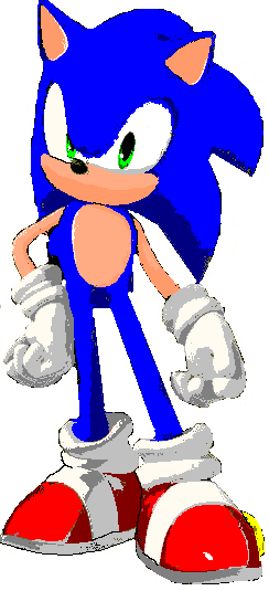 sonic unleashed pose in paint image