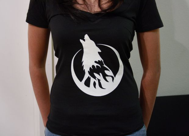 Some girls wearing Wolfire Games t-shirts