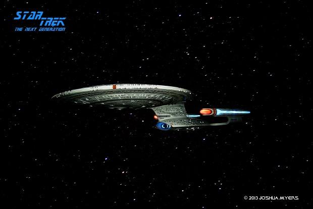 Enterprise-D Model Photoshop Work
