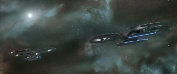 USS Enterprise A faces USS Yamato