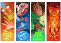 Avatar The Last Air-bender - elements