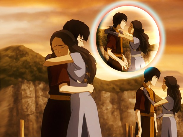 Katara & Zuko - water & fire - friends