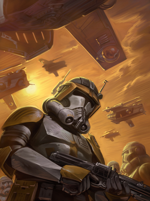 Commander Cody with 212th Attack Battalion