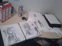 Brent W's art 'studio'