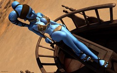 Aayla Secura in metal bikini