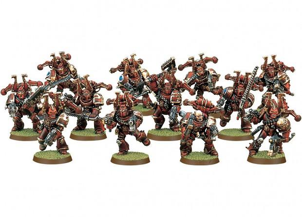 Chaos Khorne Berzerkers squad