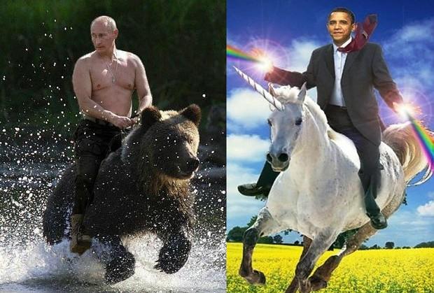 what putin ride and what obama rides