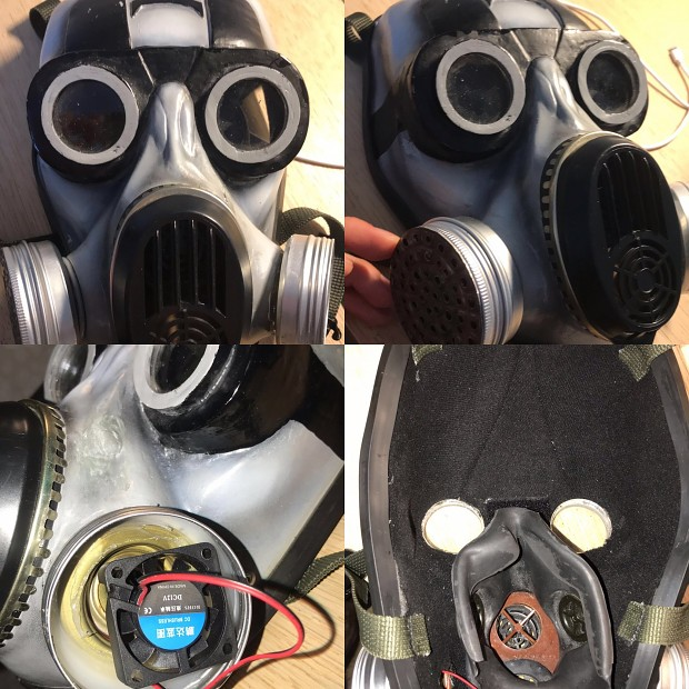 Installing Coolers inside filter canisters in my Pbf mask