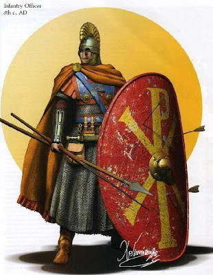 Front Rank Infantryman, 6th Century A.D..