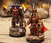 Emperor of Mankind model and Horus
