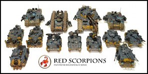 Red Scorpions Space Marines vehicles