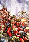 Blood Angels Fighting For The Emperor