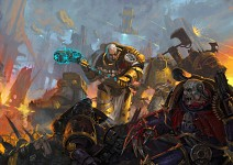 Imperial Fists Space Marines artwork