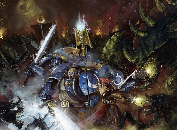 Space Marines vs Tyranids Battle art