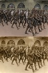Ottoman troops marching in Aleppo, probably 1915.