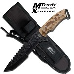 Military and rescue tactical desert knife