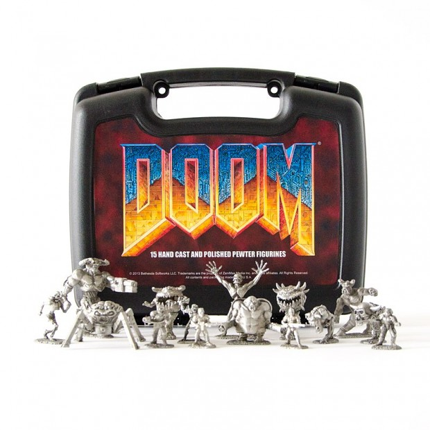 Doom Pewter Figurines