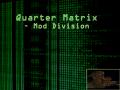 Quarter Matrix - Mod Division