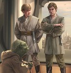 Yoda & Dooku (right) & Lorian Nod (left)