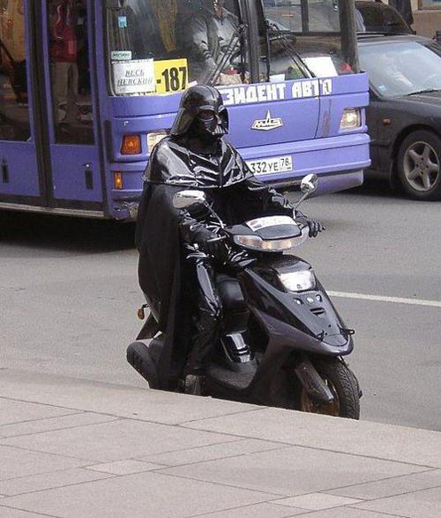 darth vader on the way to work
